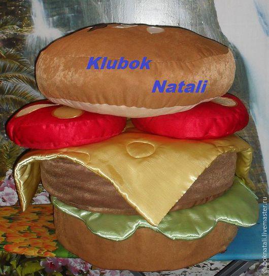 Мебель ручной работы. Ярмарка Мастеров - ручная работа. Купить Пуфик- сандвич. Handmade. Пуфик, комбинированный, синтепон