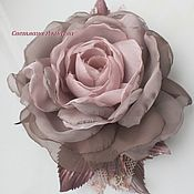 handmade. Livemaster - original item FABRIC FLOWERS. Chiffon rose brooch.