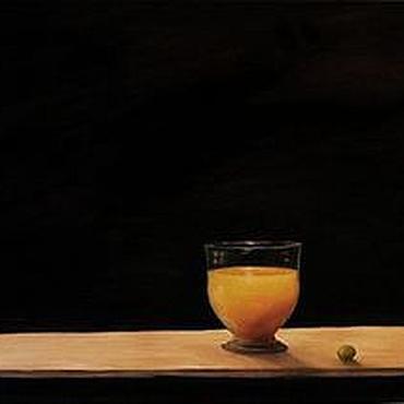 """Картины и панно ручной работы. Ярмарка Мастеров - ручная работа """"На Чёрном. Персиковый сок."""" (Картина Маслом). Handmade."""