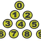 Дизайн и реклама ручной работы. Ярмарка Мастеров - ручная работа цифры  - набор цифр для машинной вышивки. Handmade.