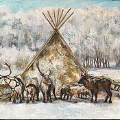 Картины ручной работы. Ярмарка Мастеров - ручная работа Северный пейзаж. Handmade.