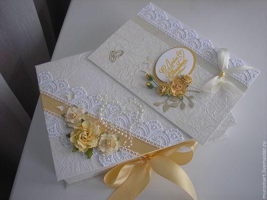 """Подарки на свадьбу ручной работы. Ярмарка Мастеров - ручная работа. Купить Подарочный набор """"Желтые розы"""". Handmade. Бежевый"""