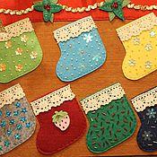 """Для дома и интерьера ручной работы. Ярмарка Мастеров - ручная работа Адвент-календарь """"Рождественский камин"""". Handmade."""
