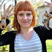Куклы и игрушки ручной работы. Ярмарка Мастеров - ручная работа Пряничные зверята. Handmade.
