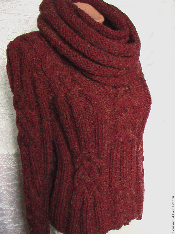 Купить вязаный свитер женский