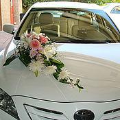 Свадебный салон ручной работы. Ярмарка Мастеров - ручная работа Свадебная композиция на машину. Handmade.
