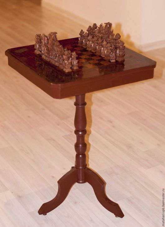 Винтажные предметы интерьера. Ярмарка Мастеров - ручная работа. Купить Шахматы на столе. Handmade. Коричневый, оригинальный подарок