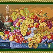 """Материалы для творчества ручной работы. Ярмарка Мастеров - ручная работа Набор вышивания бисером """"Натюрморт с малиновым вином"""""""". Handmade."""