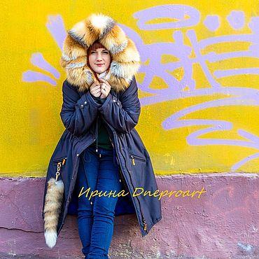 """Одежда ручной работы. Ярмарка Мастеров - ручная работа Парка с мехом лисы """"Золотое небо"""". Handmade."""