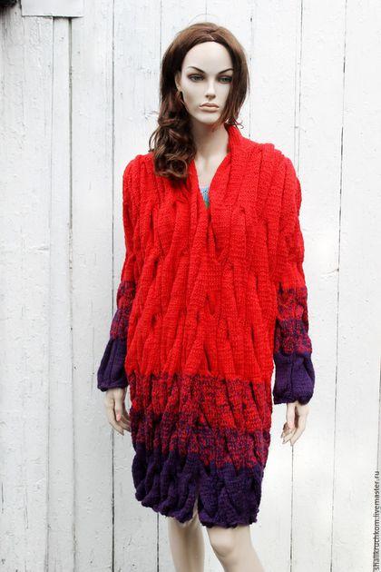 Кофты и свитера ручной работы. Вязаный кардиган в стиле шарпей ручной работы. Кардиганы FDesign, шали. Интернет-магазин Ярмарка Мастеров.