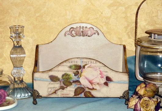 """Журнальницы ручной работы. Ярмарка Мастеров - ручная работа. Купить Органайзер """"Maison des Fleurs"""". Handmade. Кремовый, Декупаж, патина"""