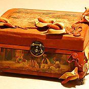 Шкатулки ручной работы. Ярмарка Мастеров - ручная работа Шкатулка из натуральной кожи в стиле art nouveau.. Handmade.
