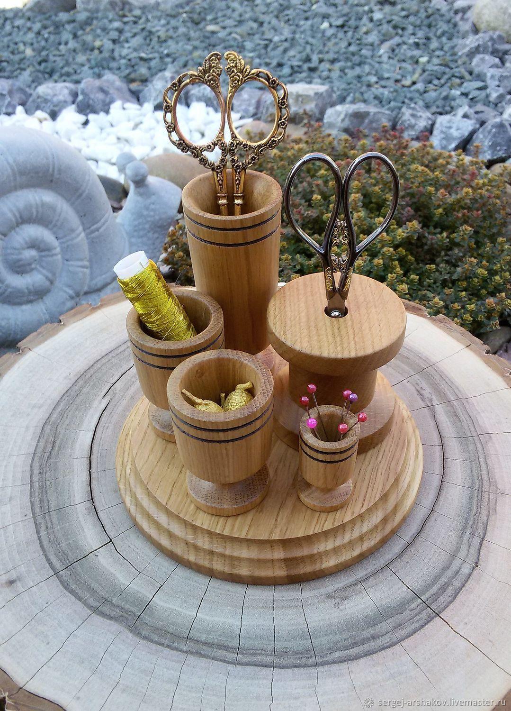 Оранайзер настольный для мелочей, натуральный дуб, Органайзеры, Павловская,  Фото №1