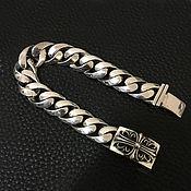 Украшения handmade. Livemaster - original item Silver bracelet with a massive male crosses 05. Handmade.