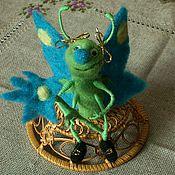 Куклы и игрушки ручной работы. Ярмарка Мастеров - ручная работа Бабочка с цветочком. Handmade.