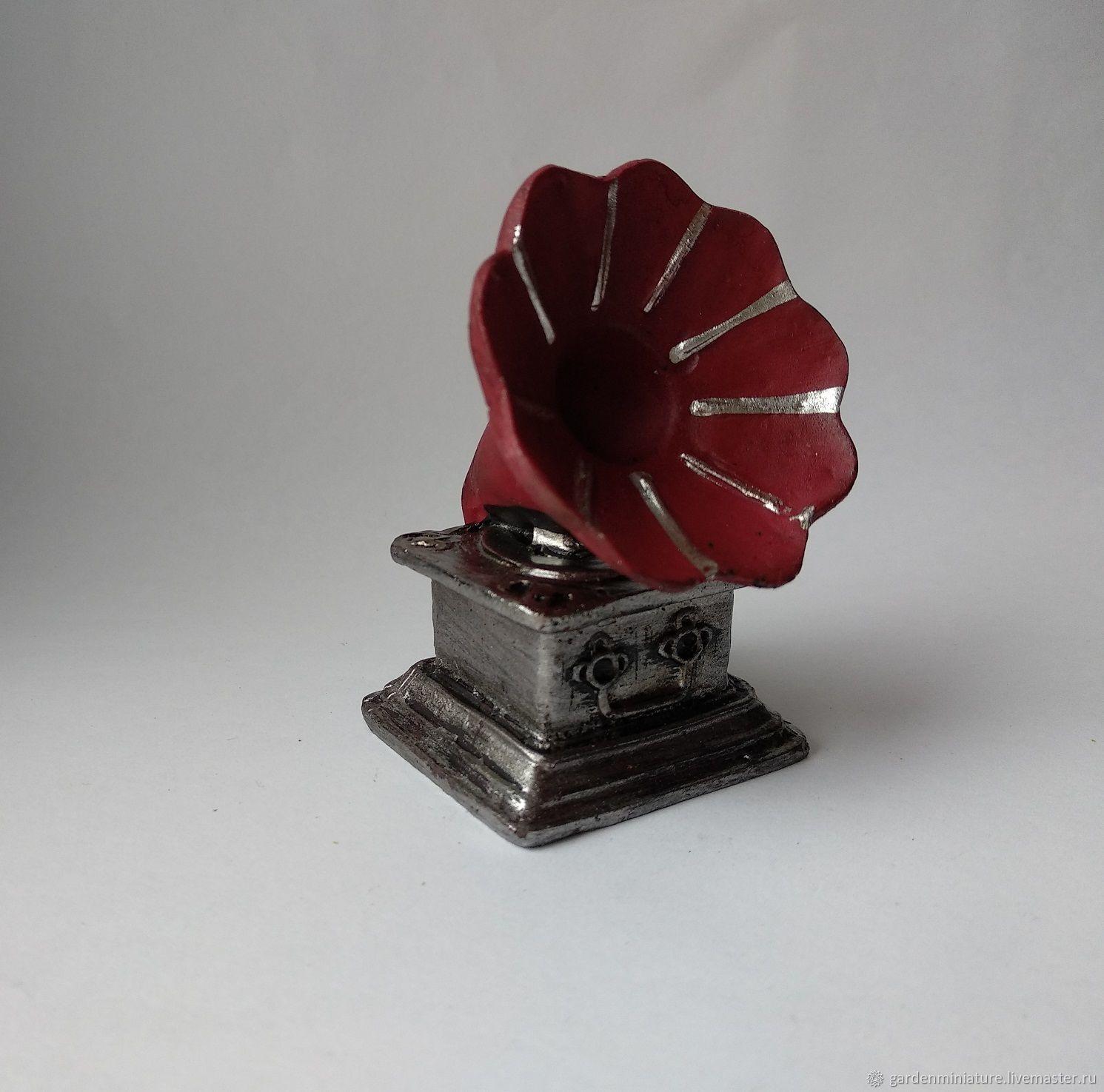 Патефон миниатюра 6,5 см, Валяние, Москва, Фото №1