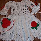 """Работы для детей, ручной работы. Ярмарка Мастеров - ручная работа Платье для девочки  """"Розы"""". Handmade."""