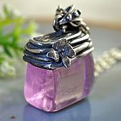 """Украшения ручной работы. Ярмарка Мастеров - ручная работа Кулон """"Розовый фламинго"""" - розовый кунцит, серебро. Handmade."""