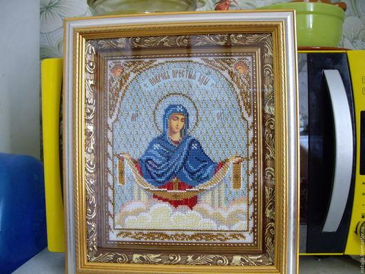 Иконы ручной работы. Ярмарка Мастеров - ручная работа. Купить Икона Покрова Пресвятой Богородицы. Handmade. Икона