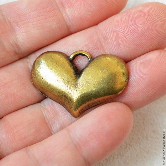 """Для украшений ручной работы. Ярмарка Мастеров - ручная работа. Купить подвеска """"сердце""""/ античная бронза (ост. 1 шт.). Handmade."""