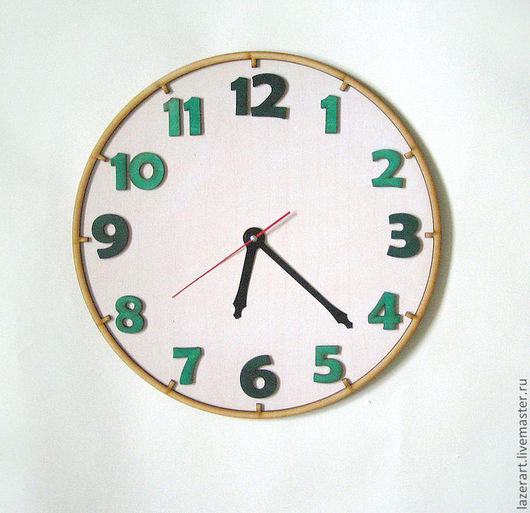 """Часы для дома ручной работы. Ярмарка Мастеров - ручная работа. Купить Часы """"Школьные"""". Handmade. Морская волна, часы"""