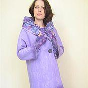 сиреневое пальто(возможно+платье+митенки)
