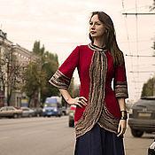 Одежда handmade. Livemaster - original item Red coat-Tulip