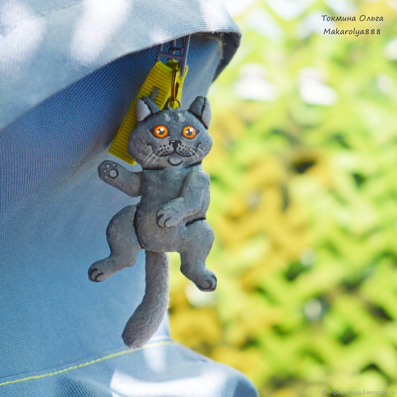 Кот брелок. Бонифаций. Грунтованный текстиль, Брелок, Иркутск,  Фото №1