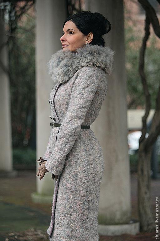 """Верхняя одежда ручной работы. Ярмарка Мастеров - ручная работа. Купить авторское пальто ручной работы """"Голубая Мечта"""". Handmade."""