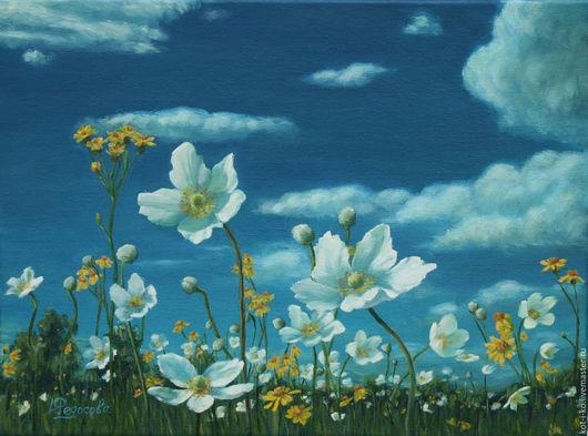 Картины цветов ручной работы. Ярмарка Мастеров - ручная работа. Купить Картина маслом Благодари небо, под которым цветешь. Handmade.