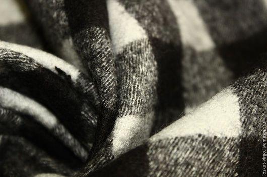 Шитье ручной работы. Ярмарка Мастеров - ручная работа. Купить Костюмная вареная шерсть ,цвет молочно-черный. Handmade.