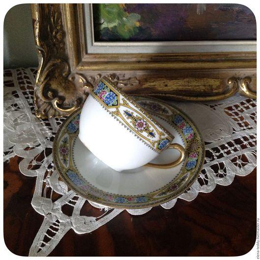 Винтажная посуда. Ярмарка Мастеров - ручная работа. Купить -30% от стоимости Limoges Франция чайная пар. Handmade. Комбинированный, limoges