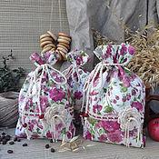"""Для дома и интерьера ручной работы. Ярмарка Мастеров - ручная работа Хлопковый мешочек """"Деревенька моя"""". Handmade."""