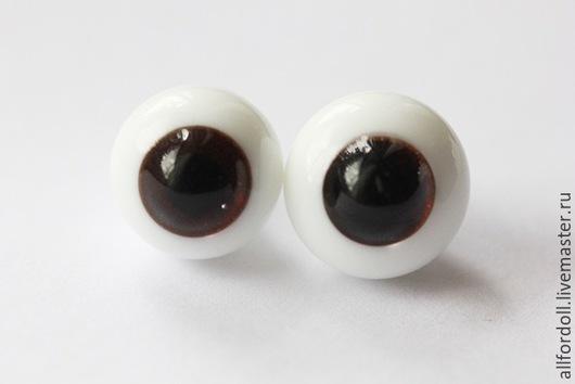 Куклы и игрушки ручной работы. Ярмарка Мастеров - ручная работа. Купить Глаза для кукол стеклянные 8 мм, 10 мм, 12 мм (сфера), темно-карие.. Handmade.