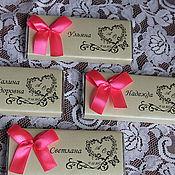 Свадебный салон ручной работы. Ярмарка Мастеров - ручная работа Именные шоколадки. Handmade.