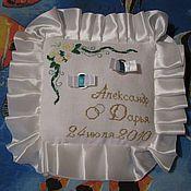 Свадебный салон ручной работы. Ярмарка Мастеров - ручная работа Подушечка для свадебных колец. Handmade.