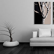 Картины и панно handmade. Livemaster - original item Large mural painting Tree, painting in an interior art print. Handmade.
