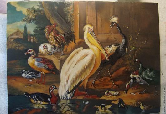 Животные ручной работы. Ярмарка Мастеров - ручная работа. Купить птичий двор. Handmade. Птицы, панно настенное, ручная работа