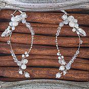 Свадебный салон ручной работы. Ярмарка Мастеров - ручная работа Серьги свадебные с натуральным жемчугом. Handmade.