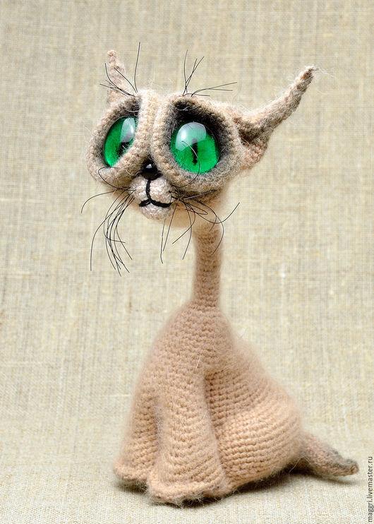 Игрушки животные, ручной работы. Ярмарка Мастеров - ручная работа. Купить Сиамский котенок. Handmade. Бежевый, вязаные игрушки
