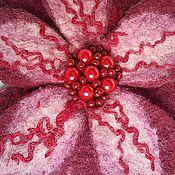 Украшения ручной работы. Ярмарка Мастеров - ручная работа брошь цветок бордовый. Handmade.