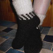 Аксессуары handmade. Livemaster - original item Women`s knitted socks Domino. Handmade.