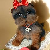 """Подарки к праздникам ручной работы. Ярмарка Мастеров - ручная работа Валяная собака """"Бетти"""". Handmade."""