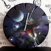 """Для дома и интерьера ручной работы. Ярмарка Мастеров - ручная работа Часы настенные """"Космос"""". Handmade."""