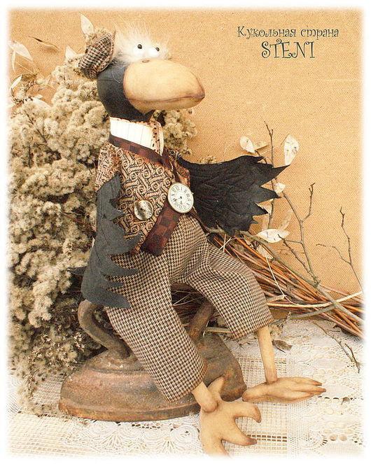 Ароматизированные куклы ручной работы. Ярмарка Мастеров - ручная работа. Купить текстильная кукла ВОРОН. Handmade. Коричневый, кукла текстильная
