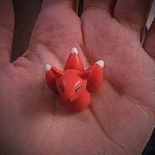 Куклы и игрушки ручной работы. Ярмарка Мастеров - ручная работа Кицунэ, Фигурка Кицунэ, Миниатюрная Кицунэ. Handmade.