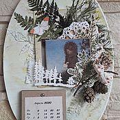 Календари ручной работы. Ярмарка Мастеров - ручная работа Ежик в тумане. Календарь. Handmade.
