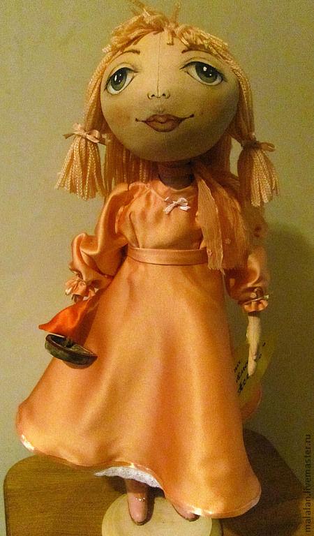 """Коллекционные куклы ручной работы. Ярмарка Мастеров - ручная работа. Купить кукла""""Ассоль"""". Handmade. Кремовый, девочка, хлопок 100%, ленточки"""