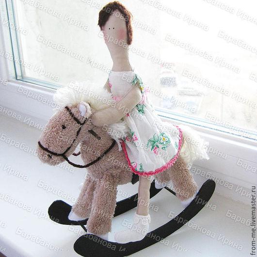 Куклы Тильды ручной работы. Ярмарка Мастеров - ручная работа. Купить Авторская портретная кукла в стиле тильда. Handmade. Бежевый