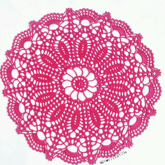Текстиль, ковры ручной работы. Ярмарка Мастеров - ручная работа. Купить Салфетка крючком  ярко-розовая. Handmade. Салфетка